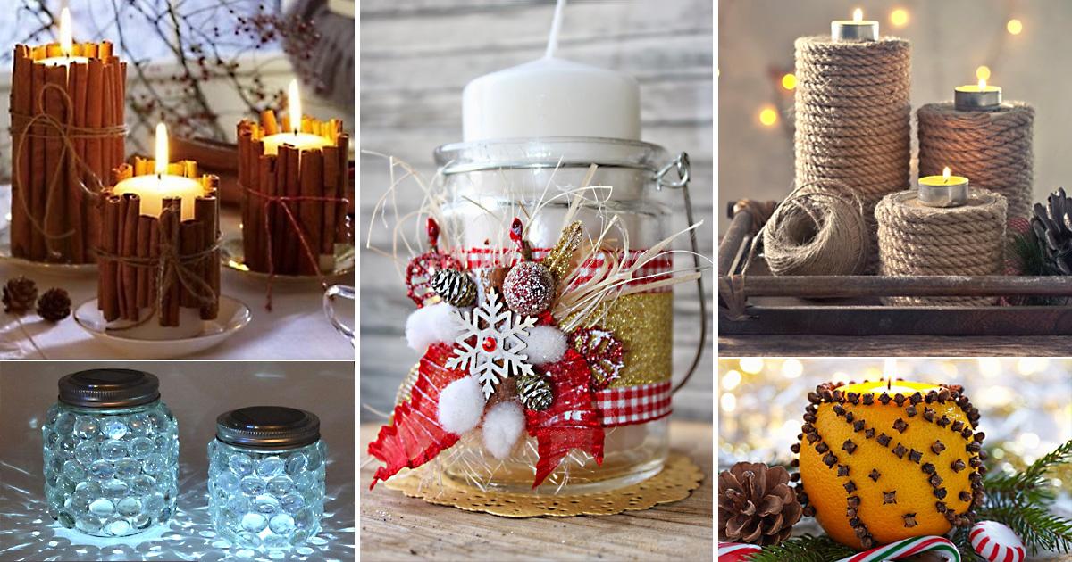 Зажигаем новогодние огни: 16 красивых и доступных идей для праздничных подсвечников