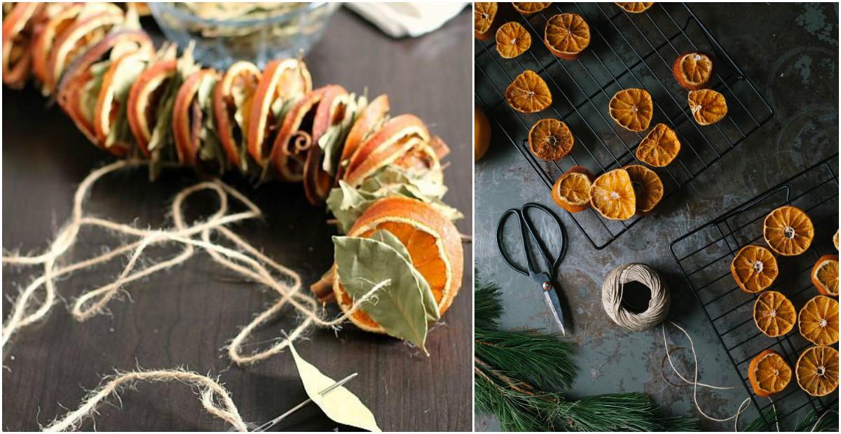 Как наполнить квартиру ароматом Нового года: делаем праздничную гирлянду из апельсинов