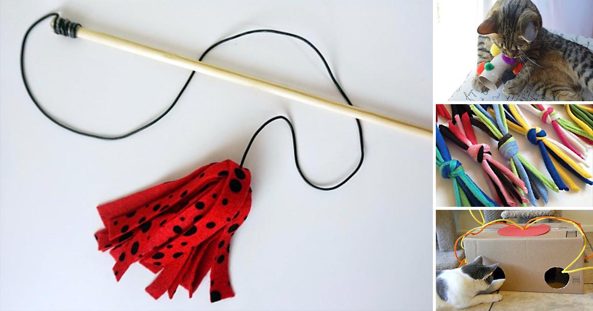 Как сделать игрушки для кошек своими руками (50 фото): идеи, интерактивные, мягкая, мышка