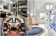 20 современных спален с двухъярусными кроватями для детей и взрослых