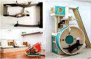 13 лучших предметов дизайнерской мебели для котов и их владельцев