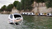 Пролетая над Парижем: летающее над водой роботизированное такси-шатл