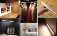 «Пусть всегда будет солнце»: новый экономичный LED светильник для мебели, туалета и гаража