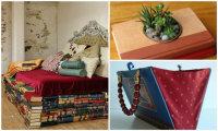 17 оригинальных идей, как с помощью ненужных книг создать стильный интерьер и даже новую мебель