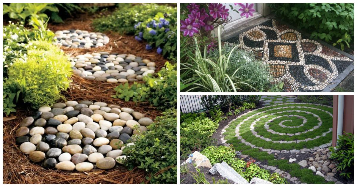 Композиции из камней в саду