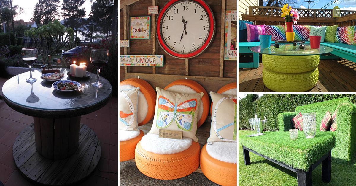 Садовая мебель для дачи стильное оформление территории участка