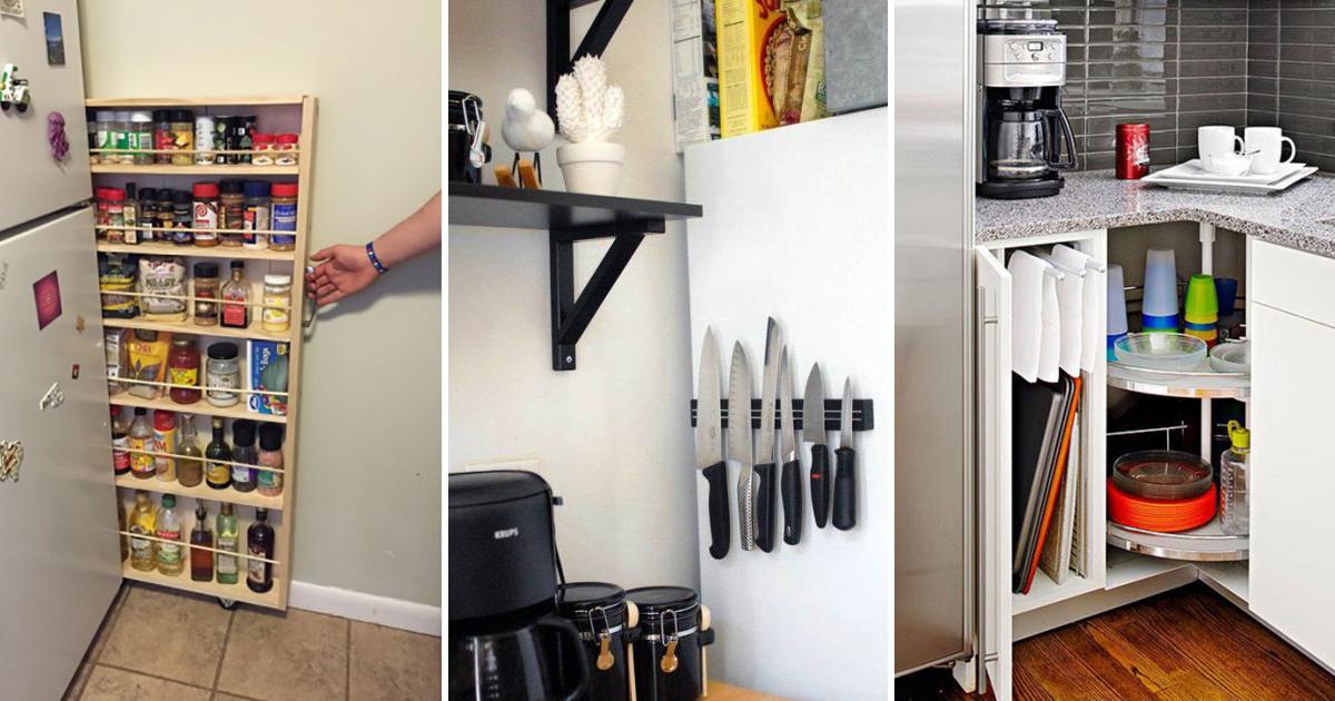 Как сэкономить пространство на маленькой кухне