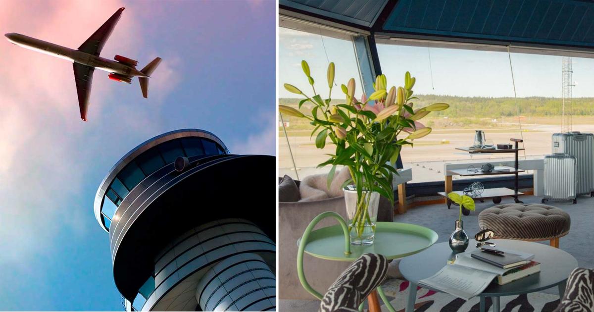 Воздушную башню стокгольмского аэропорта превратили в роскошные апартаменты