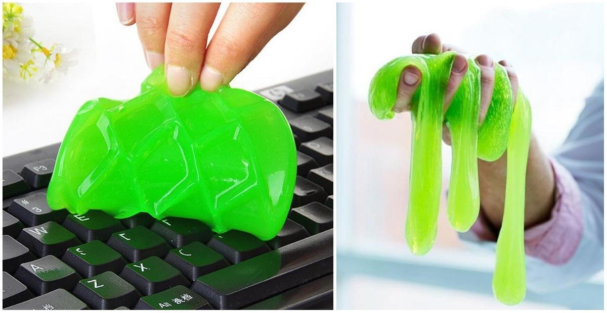Как сделать «лизуна» для чистки клавиатуры и других труднодоступных мест
