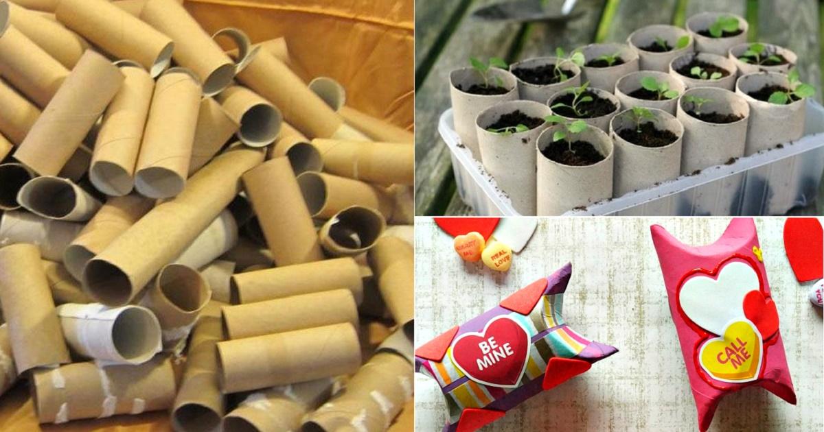 Не просто мусор: 17 неординарных способов использования картонных втулок от туалетной бумаги