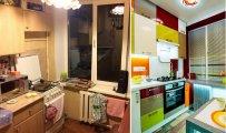 Архитектура: До и после: Блестящее преображение кухни в «хрущевке» площадью всего 6 кв. метров