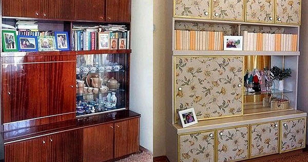 Дизайн старой стенки фото.