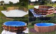 Архитектура: Парень построил бассейн на дачу из обычных деревянных поддонов по эскизу из интернета