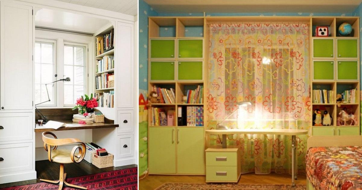 Шкаф вокруг окна — особенности расположения и 3 варианта планировки