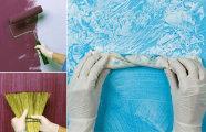 Идеи вашего дома: Как стильно покрасить стены без лишних трат, используя обычную губку, тряпку и веник