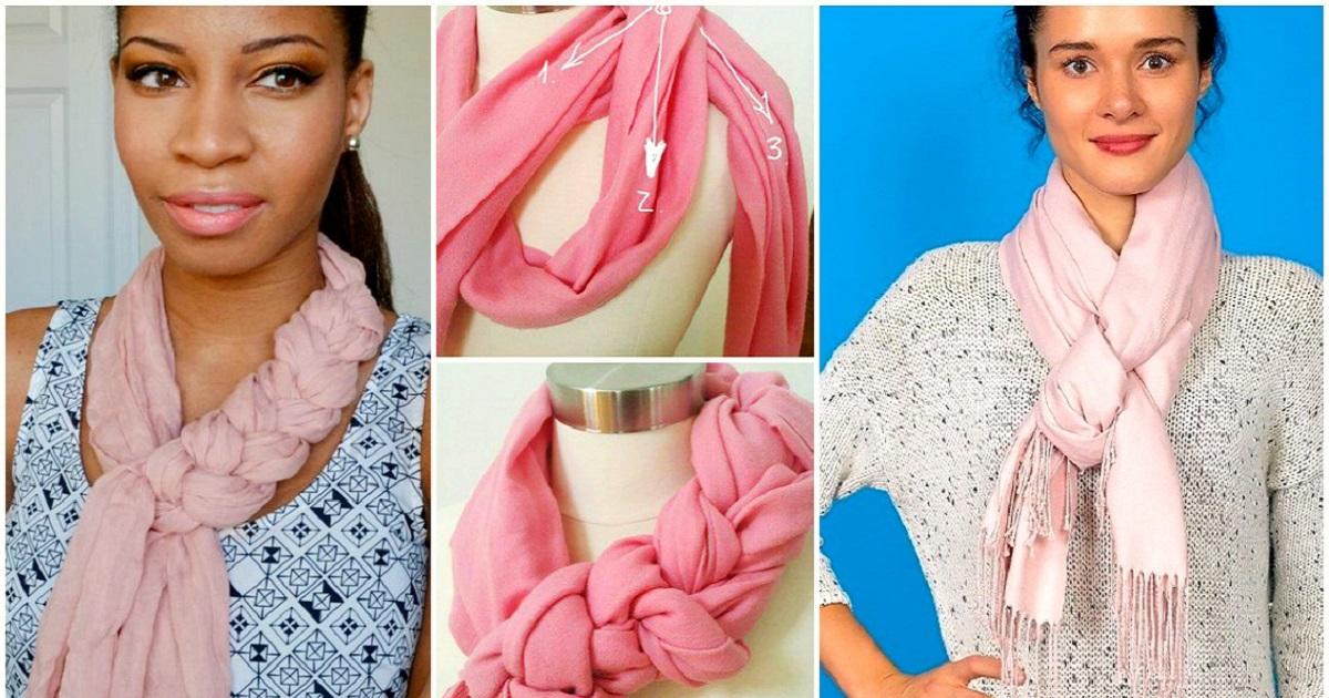 Как красиво завязать шарф на голове разными способами: красиво и стильно (видео)