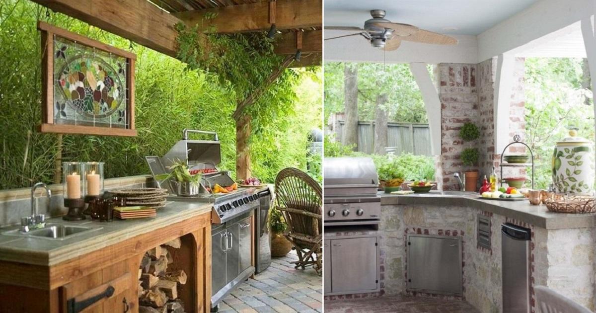 Летние кухни из камня