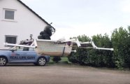 автомобили энтузиаст использовал старую ванную летать булочную