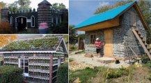Архитектура: Как за 14 дней построить дом из бутылок, или На что способны наши мастера, имея под рукой стеклотару