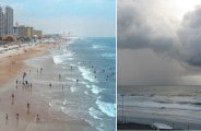Лайфхак: Снимая видео на пустынном пляже во Флориде, отдыхающему случайно удалось запечатлеть холодящие кровь кадры