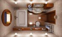 идеи реальных примеров гармоничного дизайна малогабаритной ванной комнаты