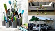 Идеи вашего дома: 17 способов превращения пластиковых труб в полезные вещицы для дома и дачи