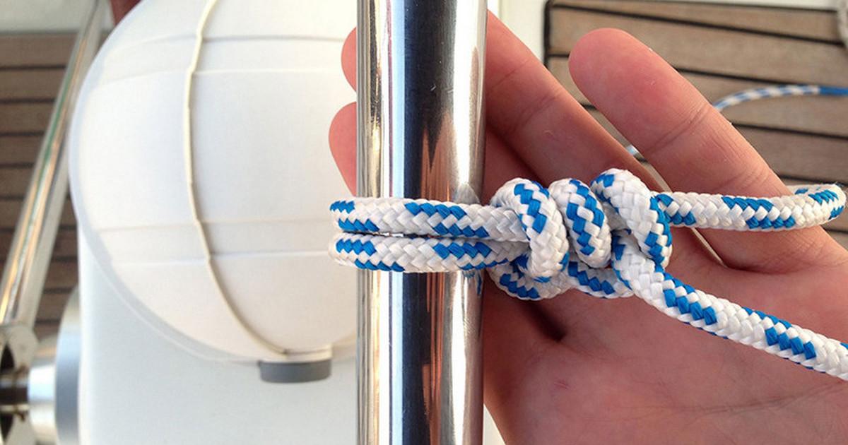 Как завязать морской прямой узел.