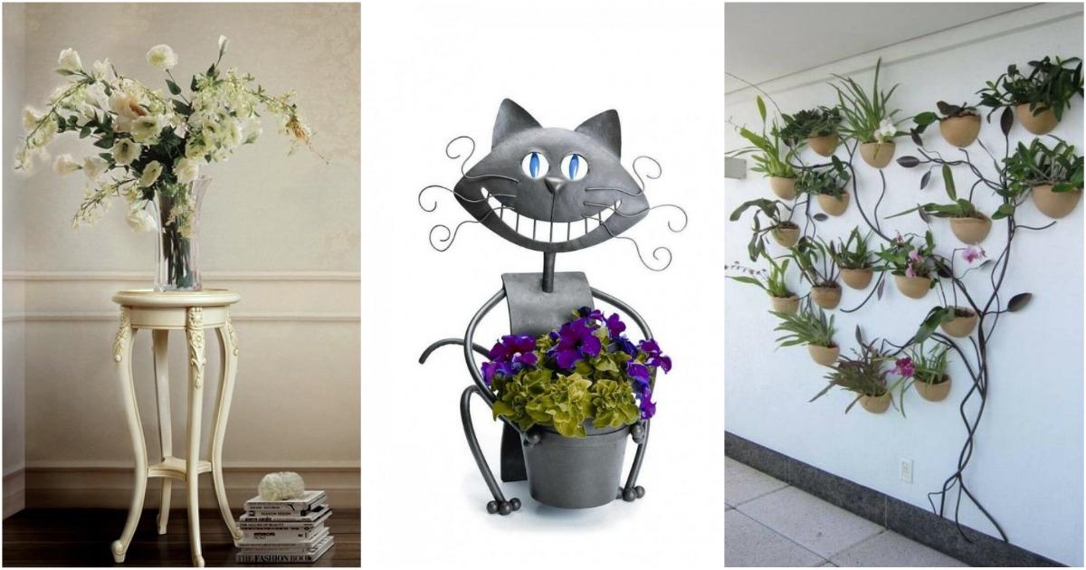 Подставка для цветов 43 фото особенности стойки на колесиках для комнатных растений Как выбрать высокую цветочницу из ротанга